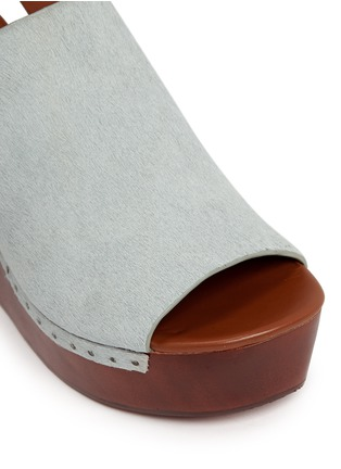 Detail View - Click To Enlarge - 10 Crosby Derek Lam - 'Fiona' wooden wedge calf hair slingback sandals