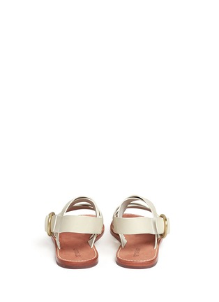 Back View - Click To Enlarge - 10 CROSBY DEREK LAM - 'Ally' crisscross leather slingback sandals