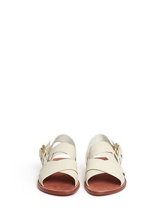 Front View - Click To Enlarge - 10 Crosby Derek Lam - 'Ally' crisscross leather slingback sandals