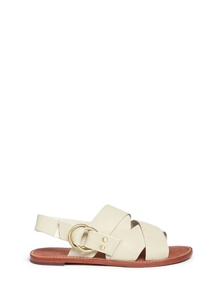 Main View - Click To Enlarge - 10 Crosby Derek Lam - 'Ally' crisscross leather slingback sandals