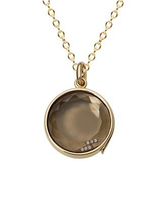 Figure View - Click To Enlarge - Loquet London - 18k black gold diamond lightning bolt charm - Inspiration