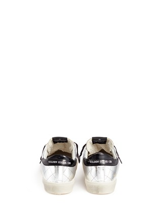 Back View - Click To Enlarge - Golden Goose - 'May' matelassé metallic faux leather sneakers