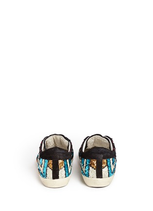 Back View - Click To Enlarge - Golden Goose - 'Superstar' suede trim paillette sneakers