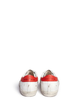 Back View - Click To Enlarge - Golden Goose - 'Superstar' smudged leather sneakers
