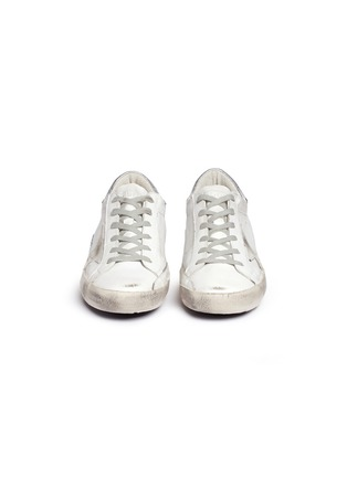 Front View - Click To Enlarge - Golden Goose - 'Superstar' smudged leather sneakers