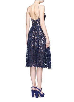 Back View - Click To Enlarge - self-portrait - 'Azaelea' floral lace spaghetti strap dress