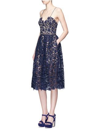 Figure View - Click To Enlarge - self-portrait - 'Azaelea' floral lace spaghetti strap dress