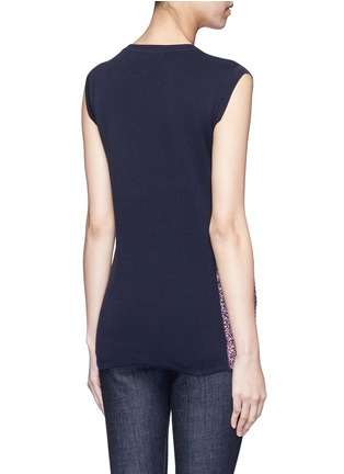 Back View - Click To Enlarge - RHIÉ - Crochet patch pocket sleeveless sweater