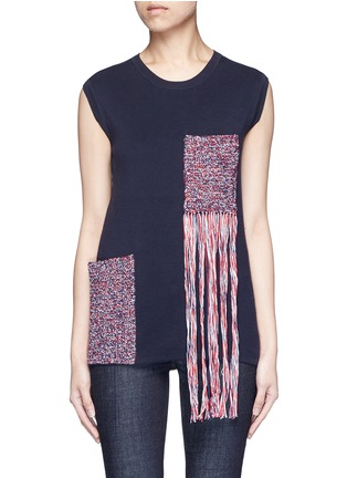 Main View - Click To Enlarge - RHIÉ - Crochet patch pocket sleeveless sweater