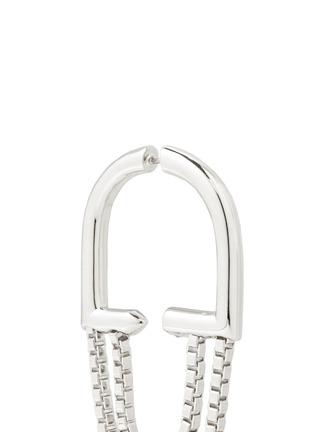 Detail View - Click To Enlarge - Eddie Borgo - 'Allure' padlock hoop box chain earrings