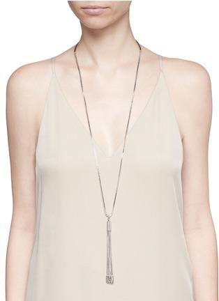 Figure View - Click To Enlarge - Eddie Borgo - 'Neo' tassel pendant chain necklace