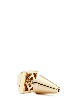 Detail View - Click To Enlarge - Eddie Borgo - Pyramid stud brass earrings