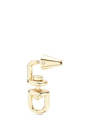 Detail View - Click To Enlarge - Eddie Borgo - 'Fame Link Day Drop' 12k gold plated earrings