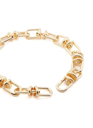 Detail View - Click To Enlarge - Eddie Borgo - 'Fame' 12k gold plated link choker necklace