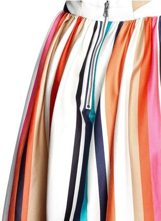 Detail View - Click To Enlarge - alice + olivia - 'Nikola' variegated stripe cotton skirt