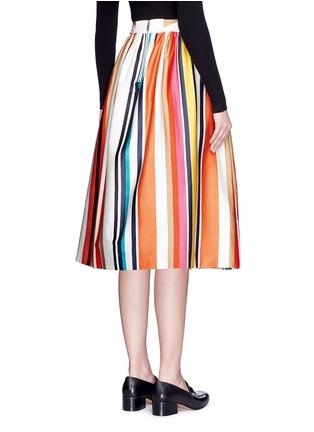 Back View - Click To Enlarge - alice + olivia - 'Nikola' variegated stripe cotton skirt
