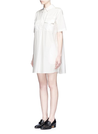 Front View - Click To Enlarge - Equipment - 'Major' cotton poplin utility dress