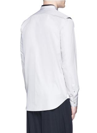 Back View - Click To Enlarge - ALEXANDER MCQUEEN - Shoulder stripe cotton shirt