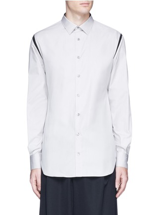 Main View - Click To Enlarge - ALEXANDER MCQUEEN - Shoulder stripe cotton shirt