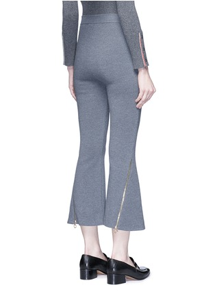 Back View - Click To Enlarge - Stella McCartney - 'Strong Lines' knit cropped flared pants