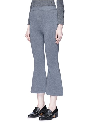 Front View - Click To Enlarge - Stella McCartney - 'Strong Lines' knit cropped flared pants