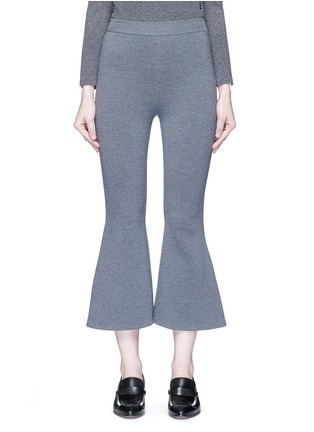 Main View - Click To Enlarge - Stella McCartney - 'Strong Lines' knit cropped flared pants