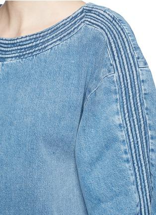 Detail View - Click To Enlarge - Chloé - Frayed trim cotton denim dress