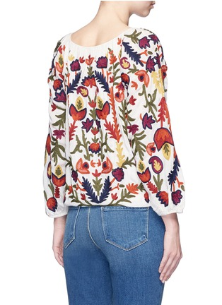 Back View - Click To Enlarge - alice + olivia - 'Naya' floral embroidery peasant top