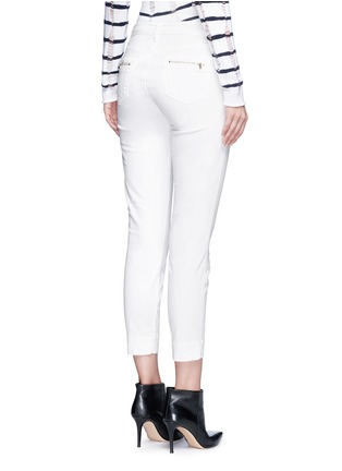 Back View - Click To Enlarge - J BRAND - 'Talon' zip pocket cropped skinny pants
