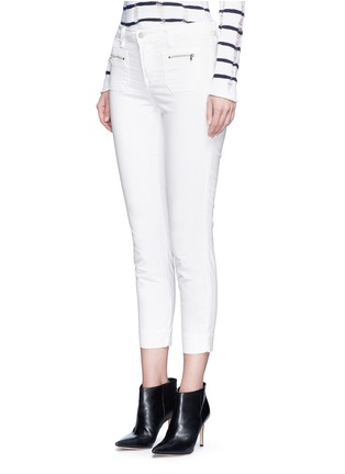 Front View - Click To Enlarge - J BRAND - 'Talon' zip pocket cropped skinny pants