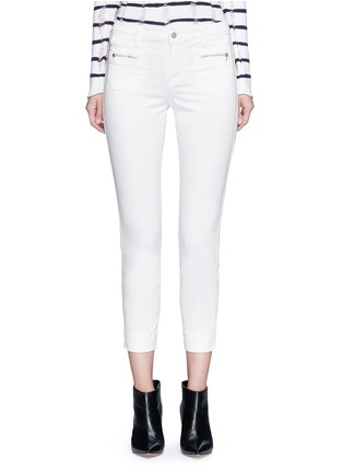 Main View - Click To Enlarge - J BRAND - 'Talon' zip pocket cropped skinny pants