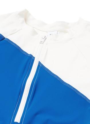 Detail View - Click To Enlarge - Flagpole Swim - 'Elliot' colourblock long sleeve rashguard
