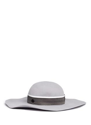 Figure View - Click To Enlarge - Maison Michel - 'Lucia' rabbit furfelt wide brim floppy hat