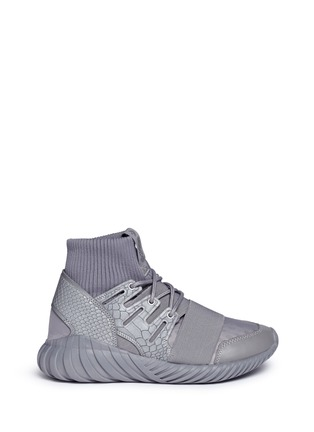 Main View - Click To Enlarge - Adidas - 'Tubular Doom Reflections' neoprene lizard effect sock sneaker