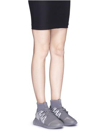 Figure View - Click To Enlarge - Adidas - 'Tubular Doom Reflections' neoprene lizard effect sock sneaker