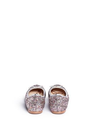 Back View - Click To Enlarge - Sam Edelman - 'Felicia' glitter ballet flats