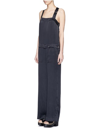Front View - Click To Enlarge - KENZO - Cinched D-ring strap sandwashed silk jumpsuit