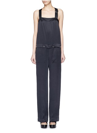 Main View - Click To Enlarge - KENZO - Cinched D-ring strap sandwashed silk jumpsuit