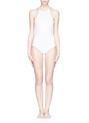 Main View - Click To Enlarge - Marysia - 'Mott' halter scallop maillot swimsuit