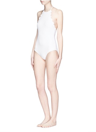 Figure View - Click To Enlarge - Marysia - 'Mott' halter scallop maillot swimsuit