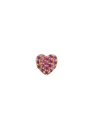 Main View - Click To Enlarge - Loquet London - 18k yellow gold sapphire heart charm - Sweetheart