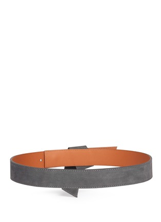 Back View - Click To Enlarge - Maison Boinet - Origami fold suede belt