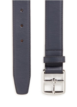 Detail View - Click To Enlarge - Maison Boinet - Square buckle leather belt