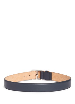 Back View - Click To Enlarge - Maison Boinet - Square buckle leather belt