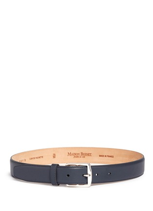 Main View - Click To Enlarge - Maison Boinet - Square buckle leather belt
