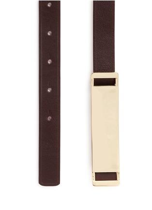 Detail View - Click To Enlarge - Maison Boinet - Reversible leather belt