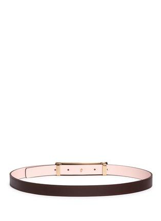 Back View - Click To Enlarge - Maison Boinet - Reversible leather belt