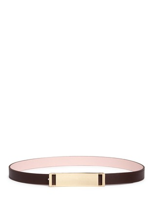 Main View - Click To Enlarge - Maison Boinet - Reversible leather belt