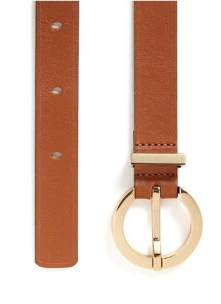 Detail View - Click To Enlarge - MAISON BOINET - Round buckle leather belt