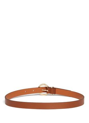 Back View - Click To Enlarge - MAISON BOINET - Round buckle leather belt